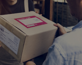 Smarter payments on the go- the man delivering the package